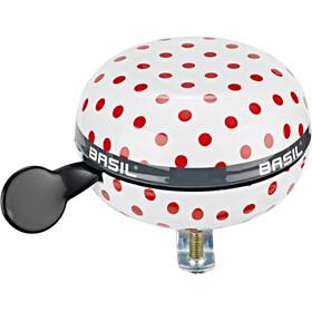 Basil Polkadot Bicycle Bell Ø80mm, blanco/rojo